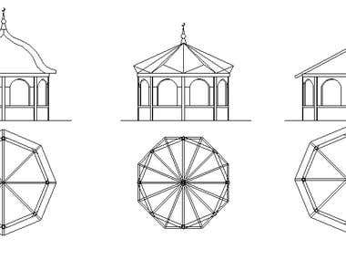 Three different solutions for muslim public fountain