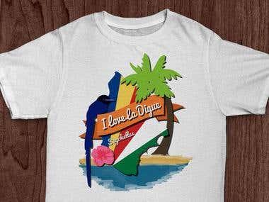 I love La Digue T-shirt Design