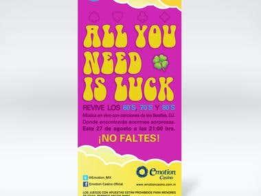 Flyer promoción Casino Emotion
