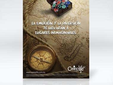 Flyer promoción Casino Life