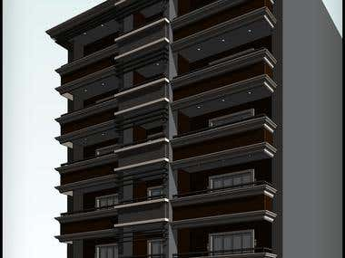 Architectural Works designed and worked in Autodesk Revit.