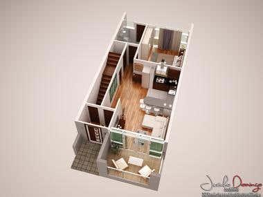 3D Floor Plan Renderings