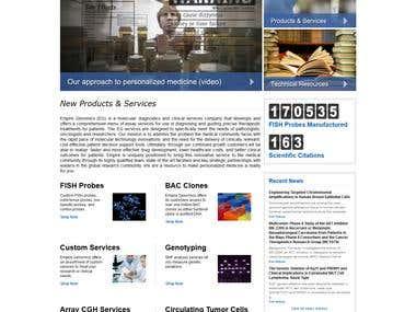 CakePHP Website : http://www.empiregenomics.com/