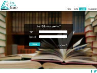 Online Book Search Platform Website