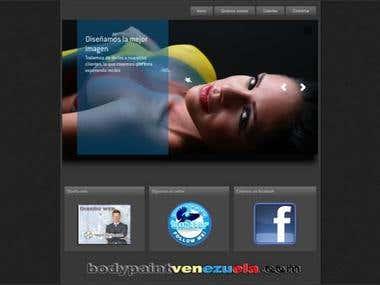 Diseño del portal Bodypaintvenezuela / sitio en OFF