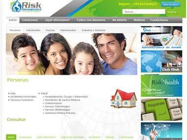 Diseño del portal Risk Management Corretaje de Seguros, C.A.
