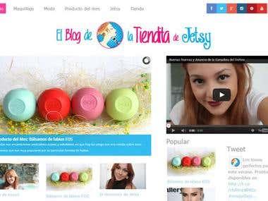 Desarrollo del sitio web El blog de La Tiendita de Jetsy OFF