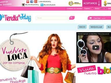 Desarrollo de la tienda online La Tiendita de Jetsy  OFF
