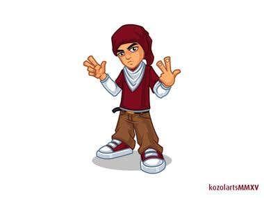 Hip Hop Mascot