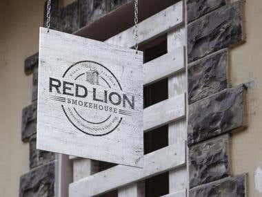 Red Lion Smokehouse Logo