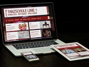 Tanzschule Linie1 - Joomla Website