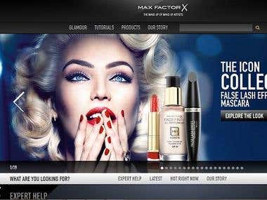 Maxfactor - Website Development and Support