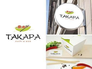 """Logo and branding  for \""""Takapa\"""""""