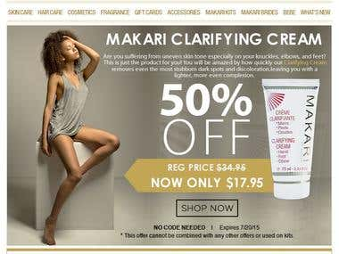 Creative Design = E-Mail Marketing -  Client: Makari