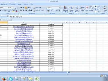 Collect emails from around 500 excel sheets