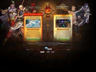 2 online games' landing page