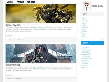 Game news web site
