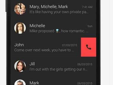 Android app for  communication