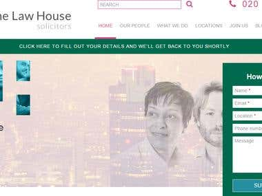 A Law house Website