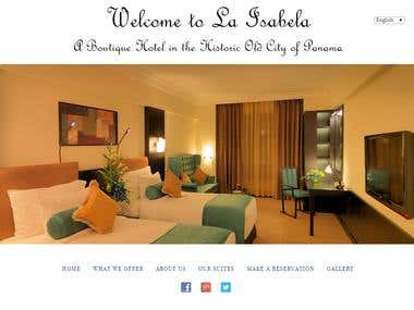 A hotel Booking website