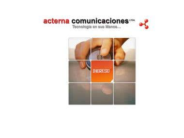 Acterna Comunicaciones Web Site