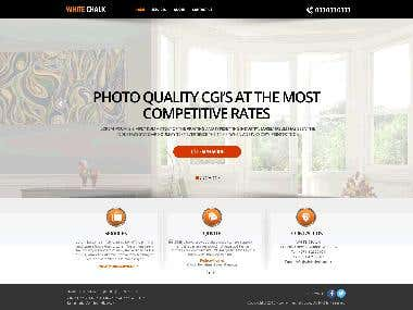 Design a Website Mockup for architect mock up site