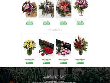 Flower Shop website mockup – No coding required