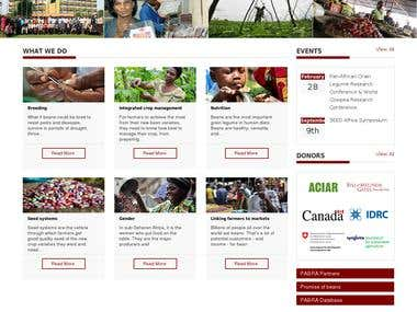 Pabra Africa - Drupal Web site with responsive