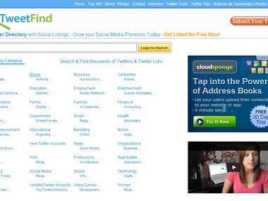 PHP, CodeIgniter, Twitter API :- Tweetfind.com