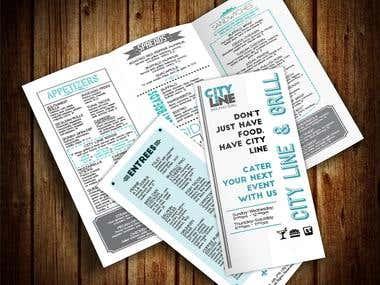 Tri-Fold menu