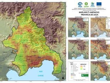Mapa multiamenazas en la provincia de Azua