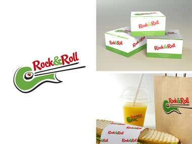 "Logo & branding- ""Rock and Roll\"""