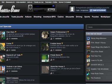 Create games website