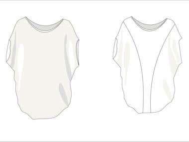 Fashion design; Flat Illustrations