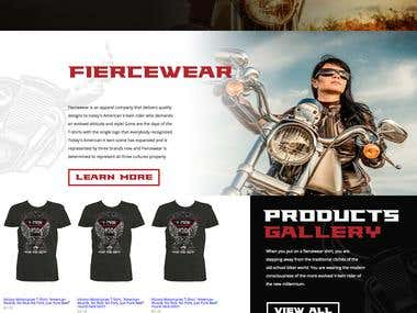 Fiercewear Designs online store.