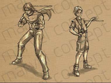 Manga Anime Character Concept