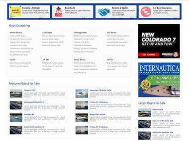 Online classified site for boat