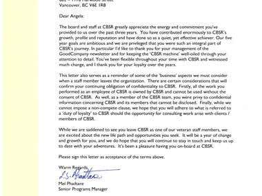 "CBSR \""Good Company\"" Newsletter"