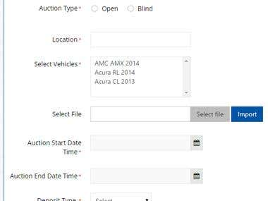 Online Car Auction Website