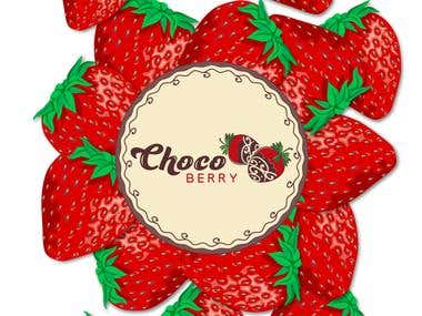 """Chocoberry\"" -strawberries in chocolate."