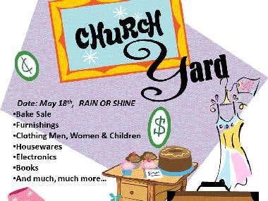 Non-Profit Community Yard Sale Flyer