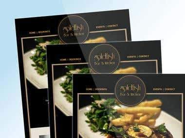 Goldfish Bar and Grill - PSD to MailChimp Template