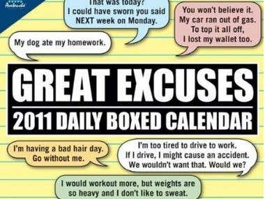 The Great Excuses Calendar