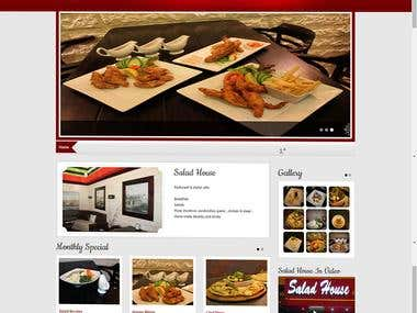 Website design for local restaurant