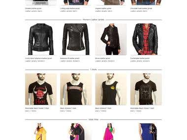 Ecommerce website for clothings