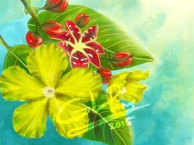 Flower Illustration : Simpoh Air