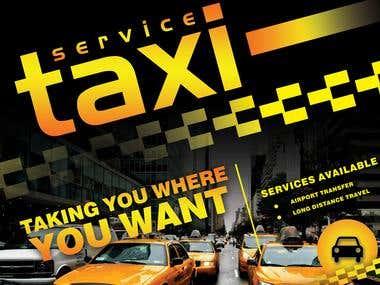 taxi flyer design