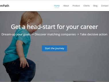 WordPress one page site for career consulting company