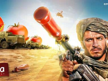 ZALZA WAR ... ADVERTISING