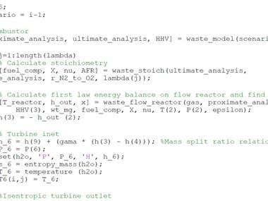 Example Matlab script